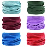 6 Pcs Mens Magic Scarf and Headbands, Multifunctional Headwear Tube Bandana Face Mask with UV Resistance
