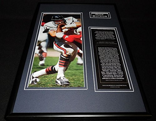Dick Butkus Framed 12x18 Photo Display Chicago ()