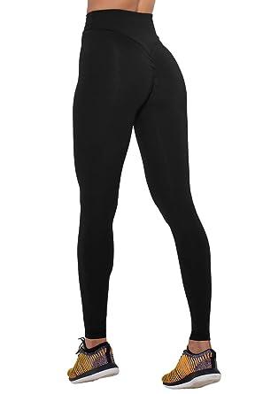 0694497282cc0 COCOLEGGINGS Women's Girls Scrunch Butt Push up Leggings Yoga Pants Black S