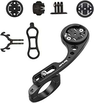 Kbrotech Bike Out-Front Mount Bicycle Handlebar Combo Mount for Garmin Bryton Gopro Flashlight,Compatible with 31.8mm 25.4mm Handlebar