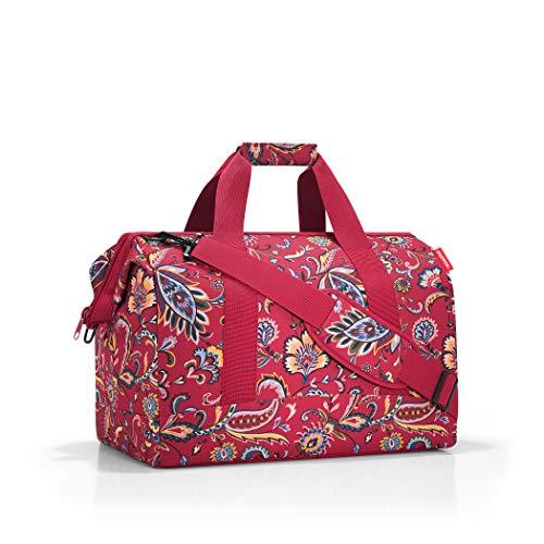 reisenthel Allrounder L Large Weekender Bag, Versatile 6-Pocket Padded Duffel, Paisley Ruby (Weekender Bag Paisley)