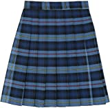 Image of French Toast Big Girls' Plaid Pleated Skirt, Blue/Red, 10