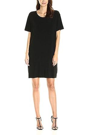 Norma Kamali - Short Sleeve Boxy Dress to Knee - Black at Amazon ... ba3db8008