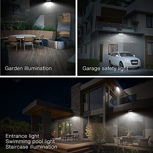 42 LED Motion Sensor Solar Light Outdoor, Zanflare Super Bright Solar Powered Wall Path Light, Wireless Home Security Outdoor Light with Motion Activated Auto ON/Off (2 Pack) by Zanflare (Image #4)