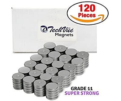 120pcs Ceramic Industrial Magnets Craft Magnets 18mm (11/16 inch) Powerful [Grade 11] Refrigerator Magnets, Ferrite Magnets, Magnets for Crafts, Hobby & Science Projects School etc by iTechVue