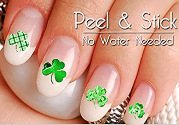 Amazon 40 st patricks day nail art decal sticker set beauty 40 st patricks day nail art decal sticker set prinsesfo Images