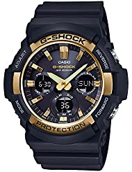 Casio GAS100G-1A G-Shock Tough Solar Mens Watch Black 55.1mm Resin/Aluminum case