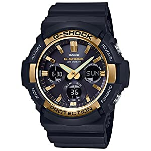 51xAaWgSOnL. SS300  - Casio G-Shock GAS100G-1A Tough Solar Resin/Stainless Steel Men's Watch (Black)