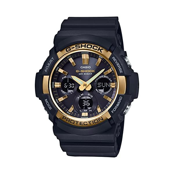 51xAaWgSOnL. SS600  - Casio G-Shock GAS100G-1A Tough Solar Resin/Stainless Steel Men's Watch (Black)