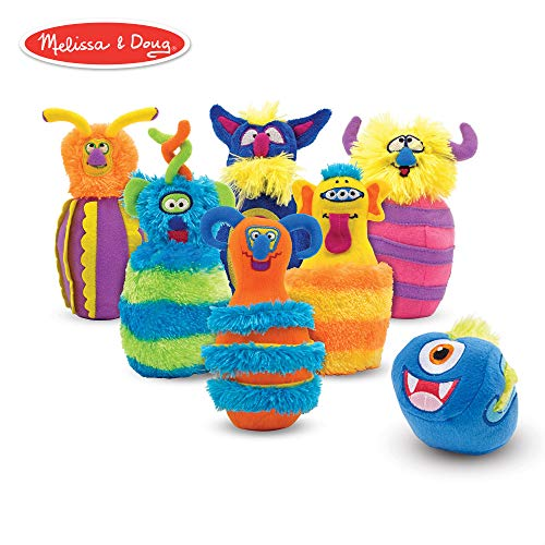 Melissa & Doug Monster Bowling Game (8 Pieces, Mesh Storage Bag)]()