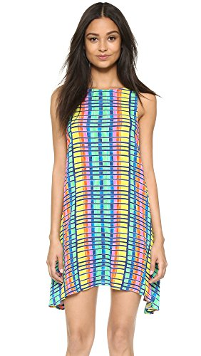 Mara Hoffman Crinkle Swing Cover-up Dress Medium Blue Multi - Crinkle Cover Up