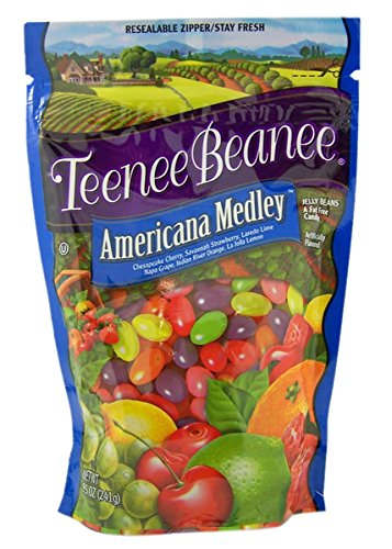 Teenee Beanee Americana Medley Jelly Beans in Resealable Bag
