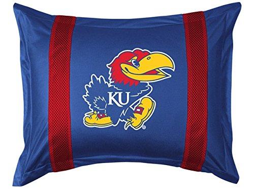 University of Kansas Pillow Sham with Jersey Mesh