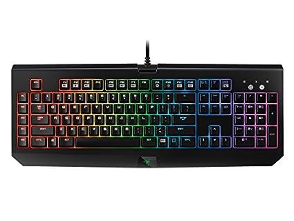 Razer BlackWidow Chroma - Teclado Gaming (retroiluminación RGB, programable, con 5 Teclas Macro, QWERTY español), Color Negro