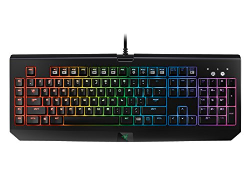Razer BlackWidow Chroma - Teclado gaming (retroiluminación RGB, programable, con 5 teclas macro, QWERTY español), color negro