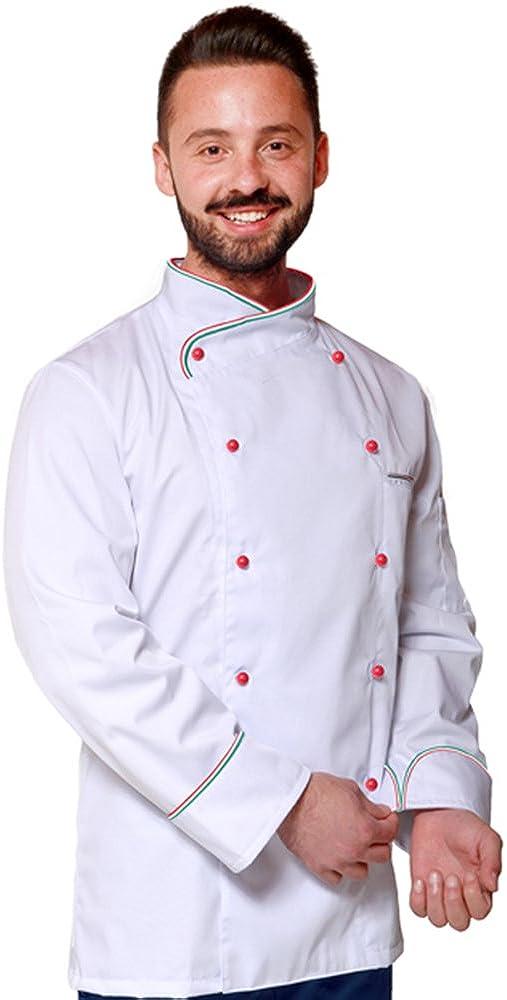 Ricamo Gratuito Giacca Cuoco Chef in 30 Colori e Modelli Diversi Cotone sanforizzato No Stiro