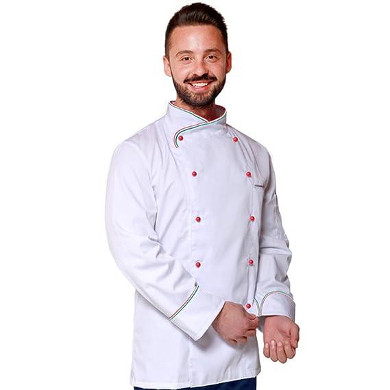 TCD GROUP Giacca Casacca da Cuoco Chef Modello Italia  Amazon.it   Abbigliamento b3b3ed6db501