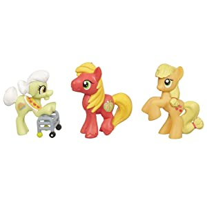 My Little Pony Friendship is Magic Apple Family Set 3Pack Granny Smith, Big Macintosh Applejack Set