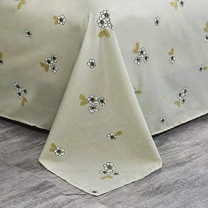 150 x 200 cm Zhiyuan Housse de couette drap plat taie doreiller avec un style moderne