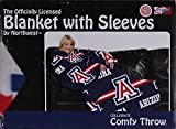 The Northwest Company Comfy Throw Fleece Blanket with Sleeves Licensed College- University of Arizona Wildcats