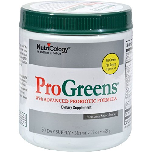 Nutricology Progreens Powder Drink Mix With Advanced Probiotic Formula - 9.27 Oz (pack of 1) image may vary