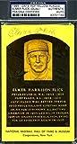 Elmer Flick PSA/DNA Certifiedated Signed X2 Gold Hof Plaque Postcard Autograph