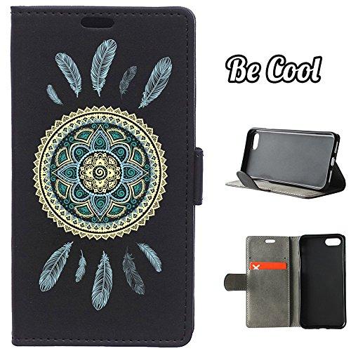 BeCool® - Housse étui [portefeuille] iPhone 7 Plus, [Fonction support], protège et s'adapte a la perfection a ton Smartphone. Elegan Wallet. Bonne humeur canine