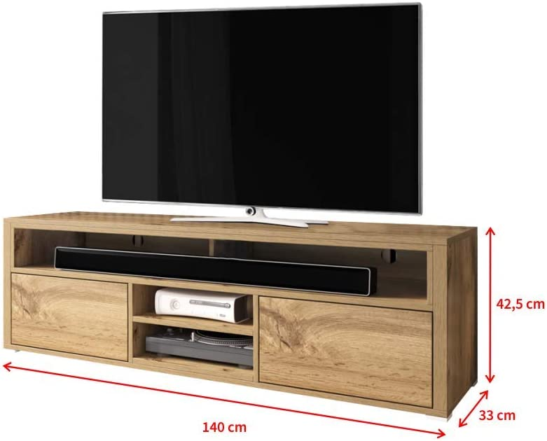 Selsey - Mueble para televisor (Madera de Roble, 137 x 33 x 42,5 ...