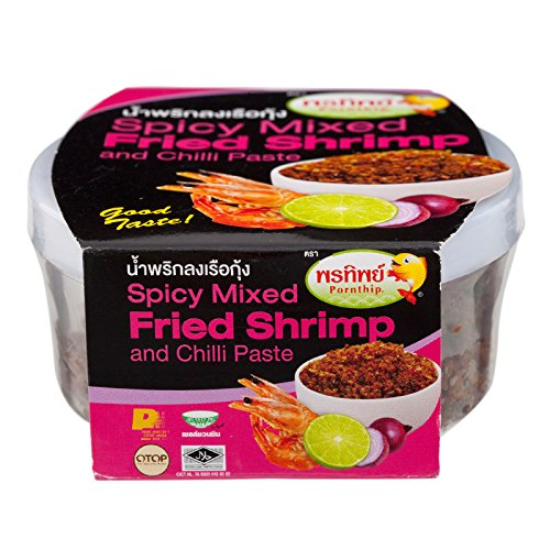 Pornthip, Spicy Mixed Fried Shrimp & Chilli, net weight 50 g (Pack of 3 pieces)/8y KK