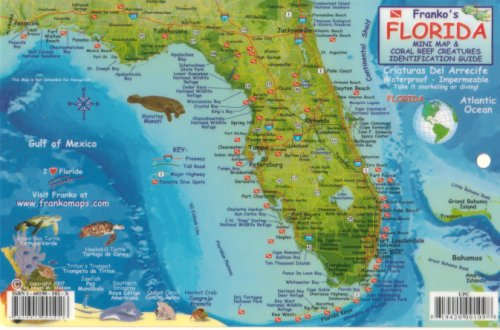 Franko's Florida Reef Creatures Guide by Franko Maps (English and Spanish Edition)