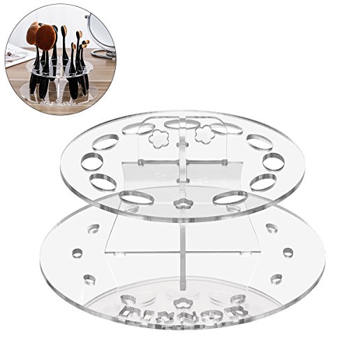 Makeup Brush Holder Drying Rack Makeup Brush Stand Clear Acr