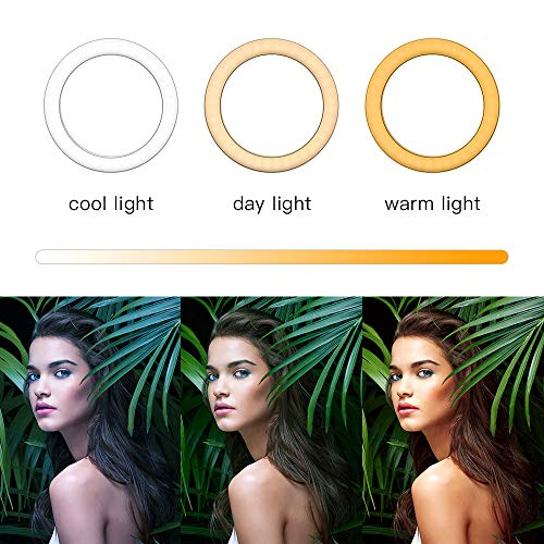 """MountDog Ring Light: 14"""" 3 Color Lights 5600K Dimmable LED Ring Light Kit with Stand, Wireless Remote, Phone Holder and Carrying Bag for Makeup Smartphone YouTube Self-Portrait Shooting 2"""