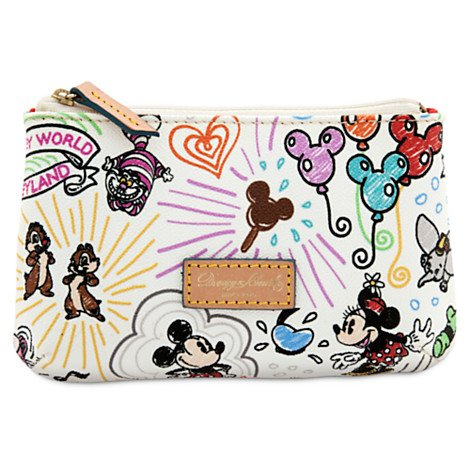 Dooney & Bourke Cosmetic Case (Walt Disney World Sketch Cosmetic Bag Dooney Bourke)