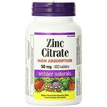 Webber Naturals Zinc Citrate Tablet, 50mg