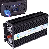 WZRELB 1000W 12V off Grid DC to AC Pure Sine Wave Solar Power Inverter Home Power Supply Generator (1000W 12V)