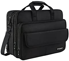 Ytonet 17 inch Stylish laptop bag features: Extra Large Capacity, Expandable Design, Convenient, Functional, Stylish and Durable. Portfolios de hombre men's briefcase and file holder perfect fits laptop brand like MacBook / HP / Surface / Del...