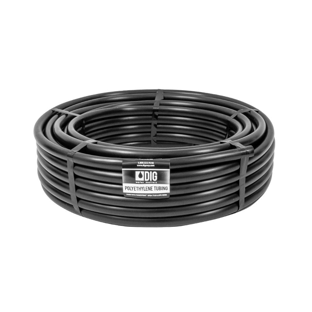 One Stop Outdoor Gardener's Poly Tubing (1/2''-inch) .600 ID x .700 OD - Irrigation, Hydroponics, Growing - Water Distribution Tube (100 Foot Roll) by One Stop Outdoor
