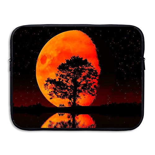 Laptop Storage Bag Cool Red Moon Night Portable Waterproof Laptop Case Briefcase Sleeve Bags Cover]()