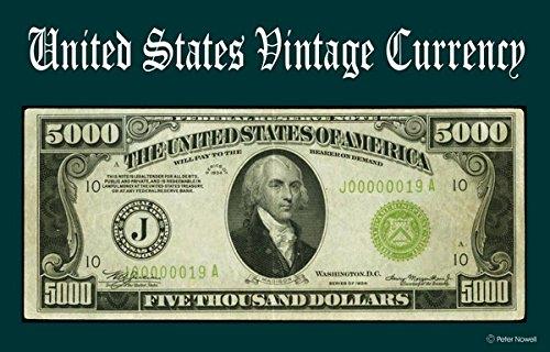 Computer Desktop Mouse Pad Vintage Old U.S. Currency Art 5000 Dollar Bill 1934 Federal Reserve Note