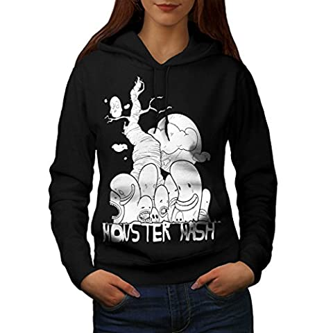 Cute Monster Mash Comic Smiley Women S Hoodie   Wellcoda (The Monster Mash Pixie)