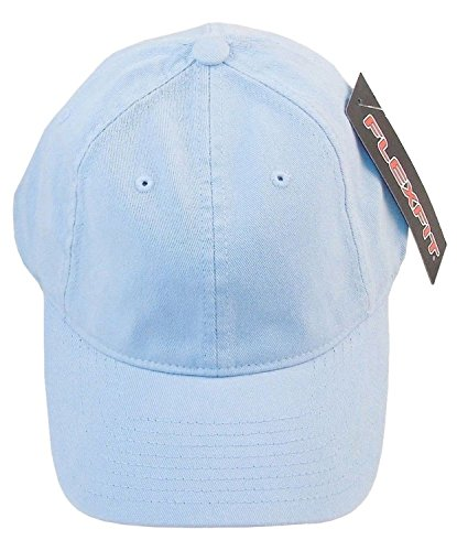 - Yupoong Garment-Washed 6-Panel Twill Cap, LIGHT BLUE, Large / X-Large