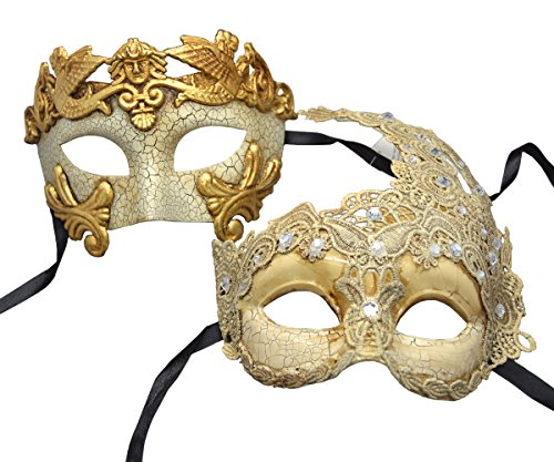 Couple Mask Plastic Roman Goddess Venetian Masquerade Mask by ACCmall