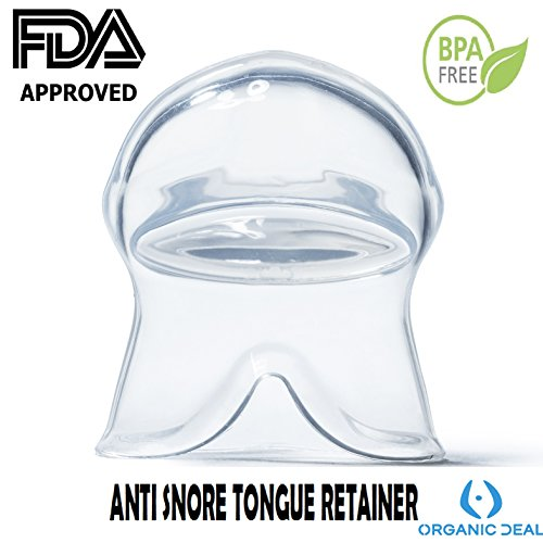 ANTI SNORING MOUTHPIECE TONGUE RETAINER - HELPS TO REDUCE SNORING! Get a Zen Sleep Like a Monk with this Mouth Guard! - Includes Protective Travel Case (This is not a medical device)