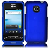 LG Optimus 2 AS680 Optimus Net L45C Rubberized Cover - Blue