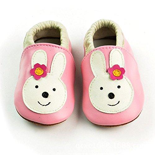 Vesi-Zapatos para bebé Primeros Pasos Zapatillas Infantiles para Niño/Niña Antideslizante Respirable Rosa Talla XL:18-24 Meses Conejo