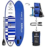 """Supflex 10' Inflatable Stand Up Paddleboard (6"""" Thick)   2-YR Warranty, includes Backpack, Paddle, HP Pump & Free Leash"""