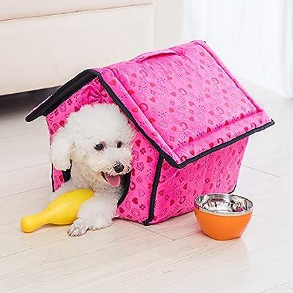 kai cesta Cama Perro Dog Bed cama para perro cojín para perro, The Red,