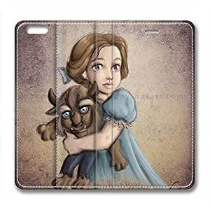 iCustomonline Beauty And The Beast Design Leather Case Cover for iPhone 6 Plus( 5.5 inch)