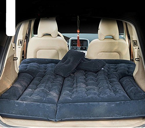goldhik SUV Car Travel Inflatable Mattress Camping Air Bed Dedicated Mobile Cushion Extended Outdoor for SUV Back Seat(Black)
