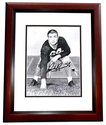 Nick Buoniconti Autographed / Hand Signed 8x10 Photo MAHOGANY CUSTOM FRAME - Hall of Famer